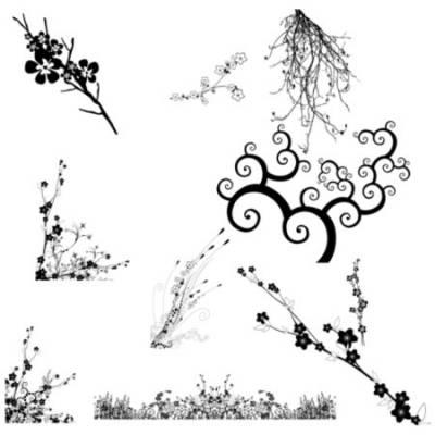 Набор кистей из 40 японских иероглифов и 5 текстов